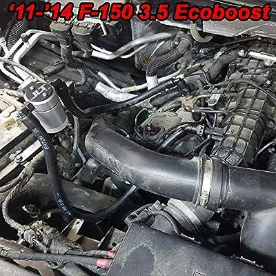 2011-2020 F150 2.7EB 3.5EB 5.0 Passenger Side JLT Oil Separator Silver: Automotive