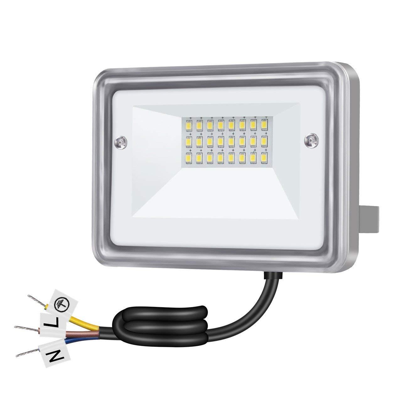 For Garden Spotlight Outdoor 100W Flood Light Yard LED Floodlight Lamp US Plug