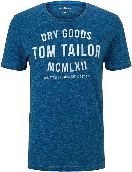 Tom Tailor Logo Camiseta para Hombre: Amazon.es: Ropa y accesorios
