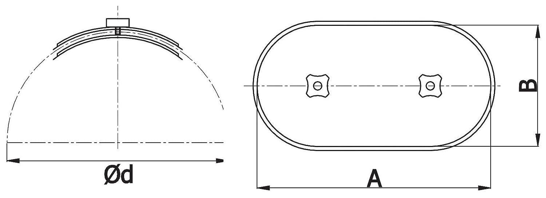 MKK Revisionsdeckel Wickelfalzrohr Reinigungs/öffnung /Öffnung Revisionsklappe /Ø 125 mm 11855-2