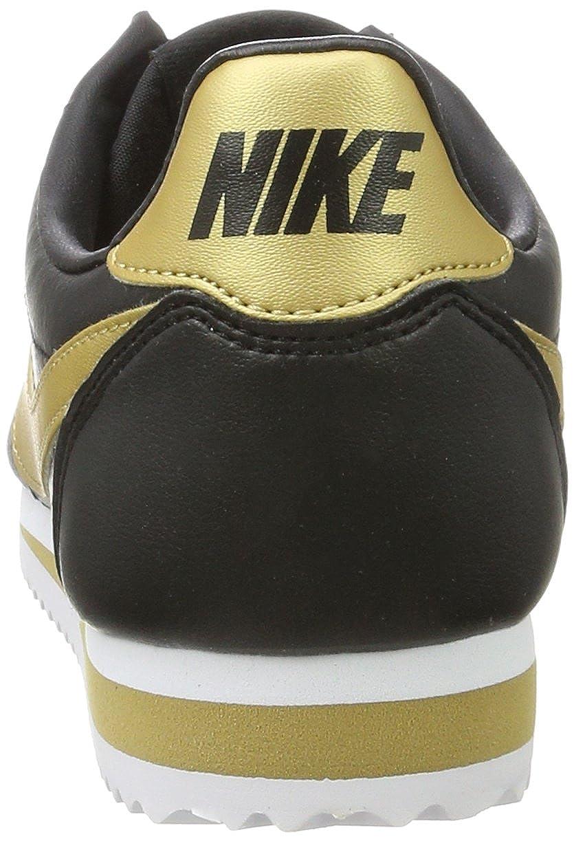 NIKE Damen Classic Classic Classic Cortez Leder Gymnastikschuhe, Schwarz (schwarz/Metallic Gold) 8413e7