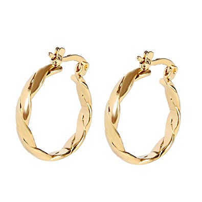 98e8d764e1083 Bridal Men Jewelry Yellow Gold Plated Women Hoop Earrings