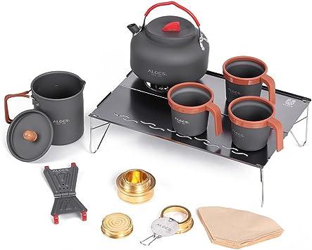 ALOCS Cocina para Camping Aluminio Accesorios de Camping Mano ...
