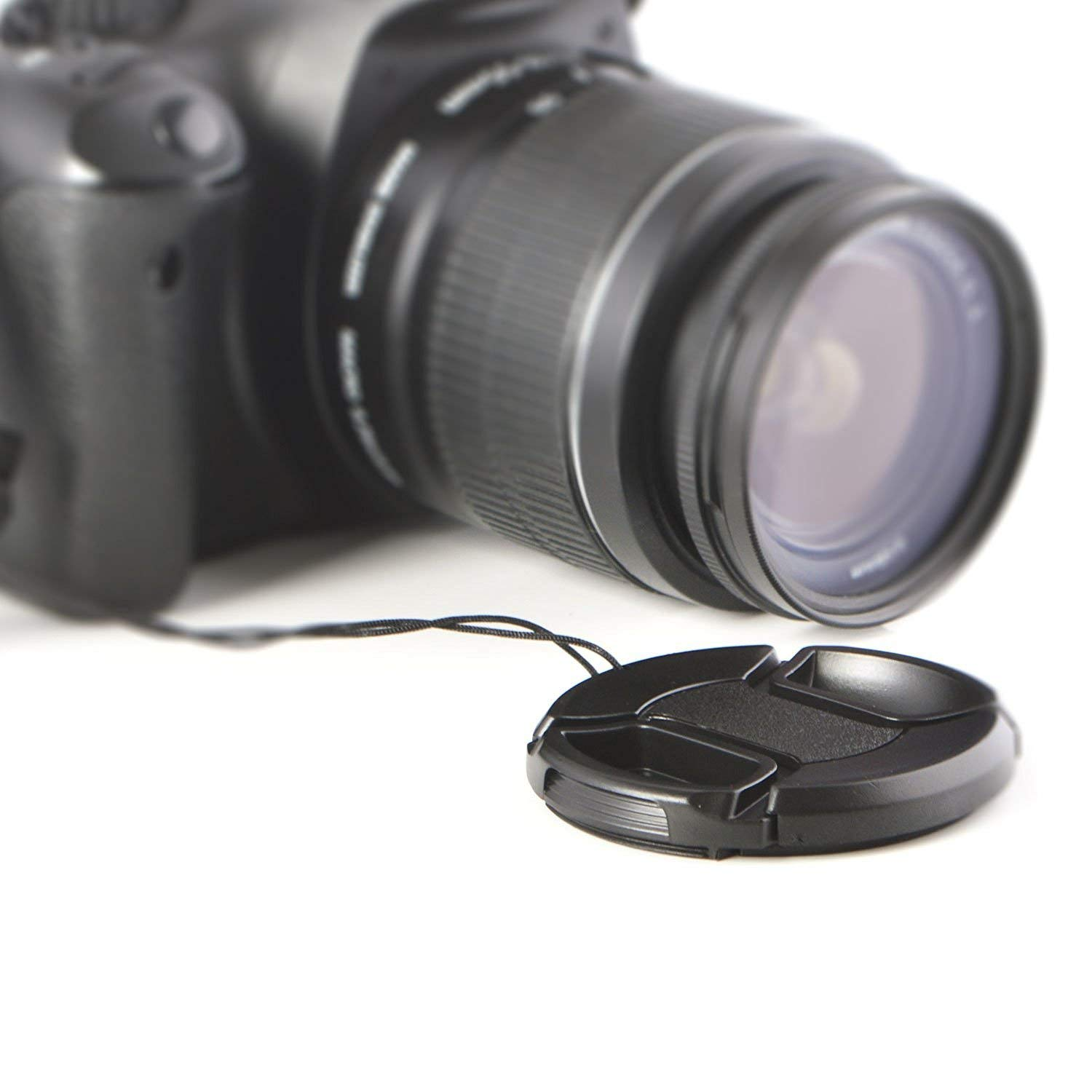 Pack of 4 Pack of 2 77 mm Lens Cap with Front Closure Clip for 77 mm Diameter Lens Compatible with All Cameras