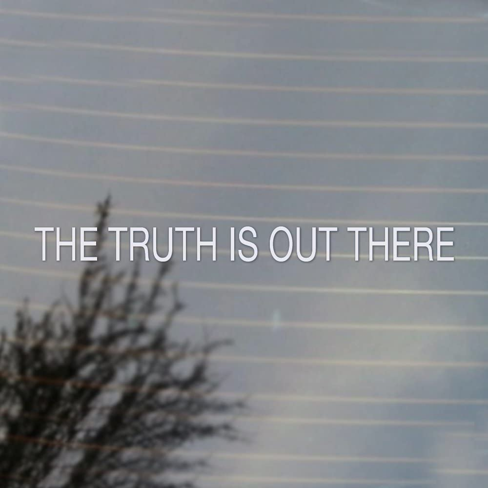 Cosplay & Fan Gear The Truth is Out There Vinyl Decal (White)