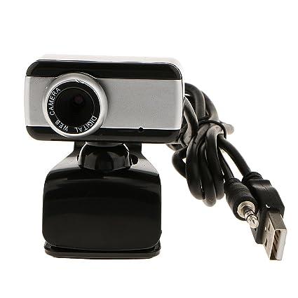 USB HD Cámara Webcam 1080p con Micrófono para Ordenador Portátil PC - Negro