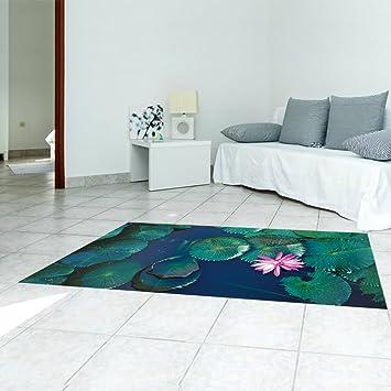 YYH 3D Wasserlilien Boden Aufkleber Umweltfreundlich Peel U0026 Stick  Wandaufkleber Kreativ Wandgemälde Zum Küche Eingang Boden