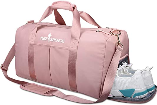 Lightweight Compact Duffel Bag for Women and Men Gym Bag with Shoe Compartment