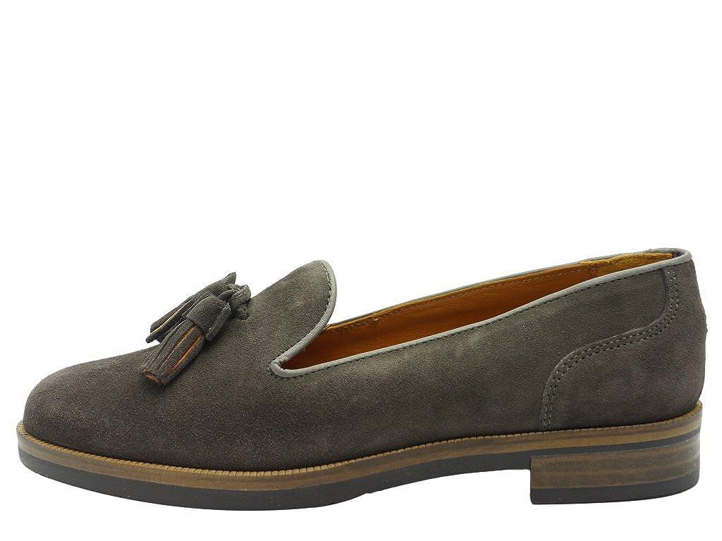 Tommy Hilfiger Diana 6b - Mocasines de Piel para mujer, color Gris, talla 37: Amazon.es: Zapatos y complementos