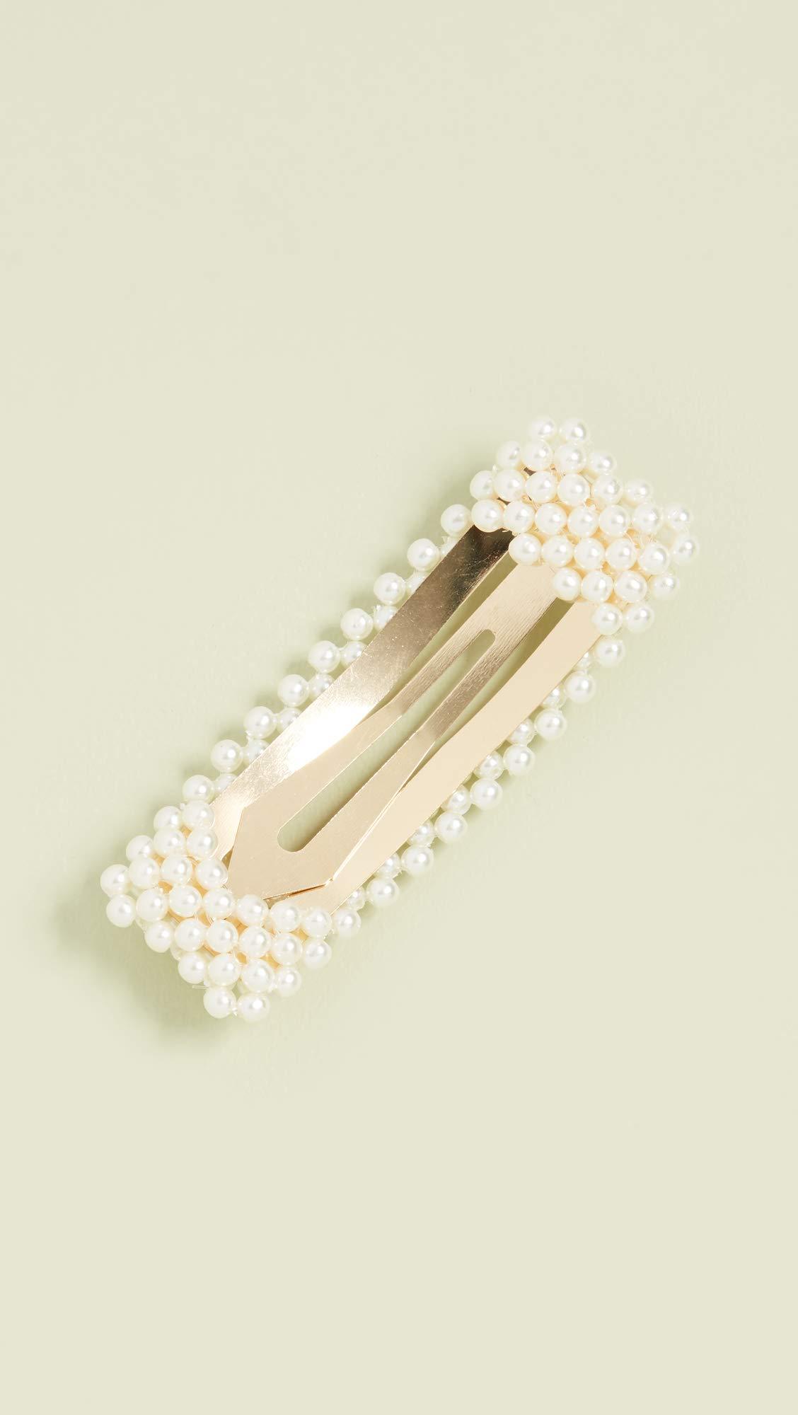 Jennifer Behr Women's Valerie Flip Clip, Pearl, Off White, One Size by Jennifer Behr (Image #4)