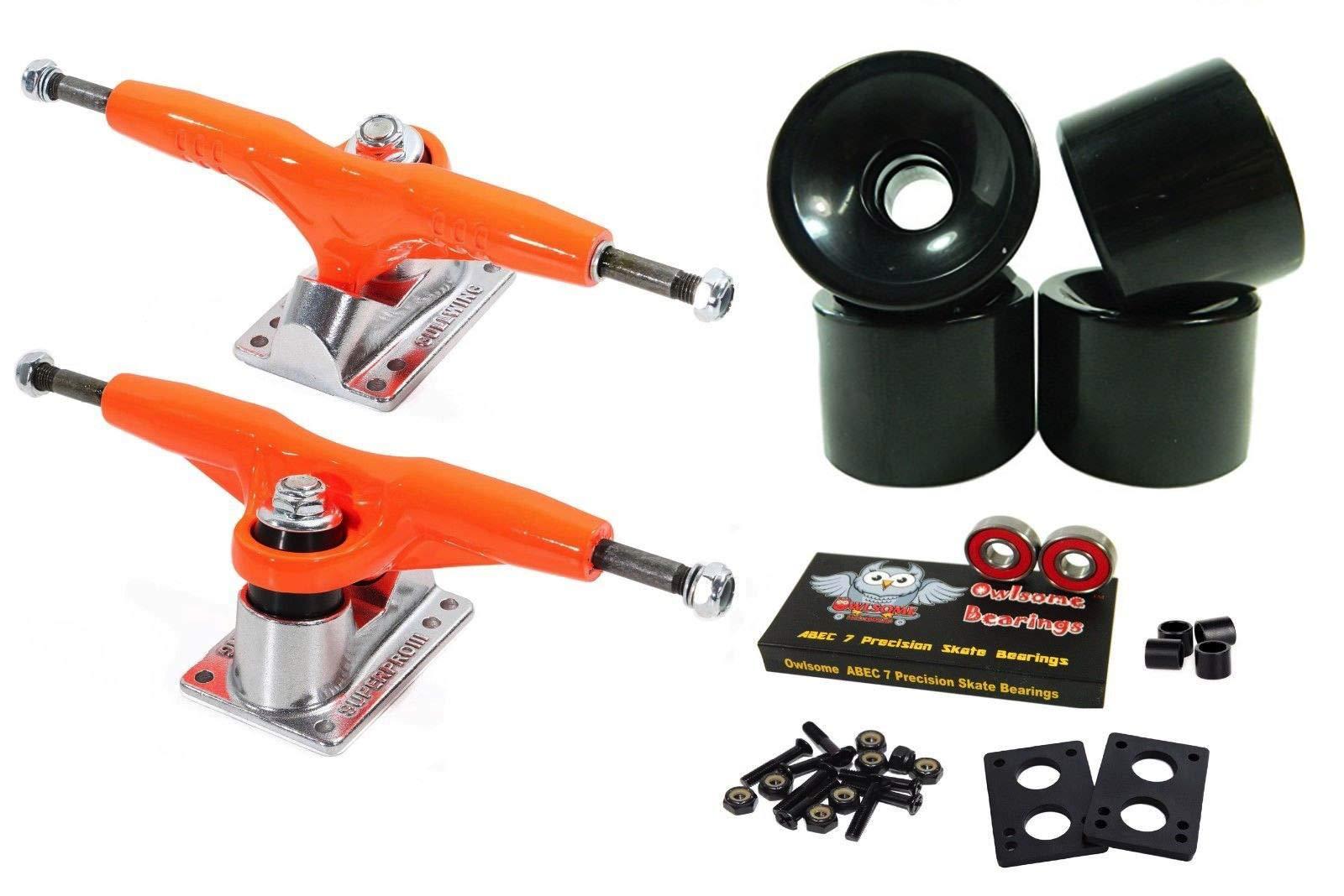 Good Skateboard Pro Iii 9'' 155Mm Orange Trucks + Blank Pro 60Mm Black Wheels
