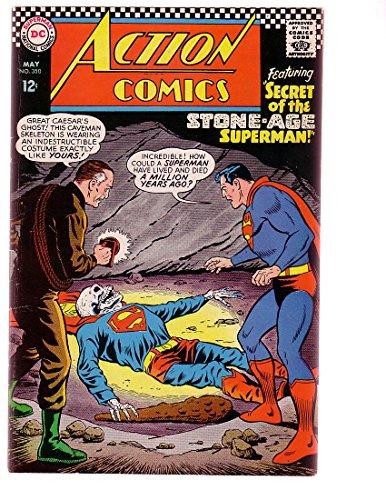 ACTION COMICS #350 1967-SUPERMAN-SKULL COVER-CAVEMAN VG