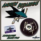 "ANDREW DESJARDINS Signed SAN JOSE SHARKS Puck w/COA ""NEW - Autographed NHL Pucks"