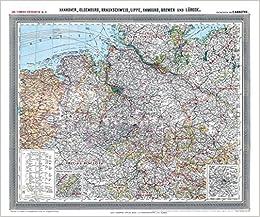 Historische Karte Provinz Hannover Im Deutschen Reich Um 1910