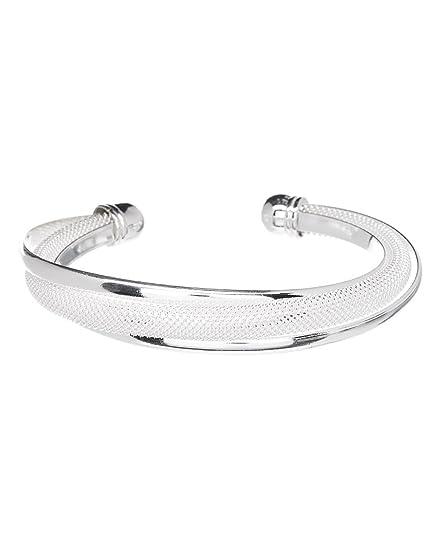 Hollywood Sensation Silver Bracelets for Women Bangle Bracelets   Mandy  Sterling Silver Plated Bracelet f370af3815