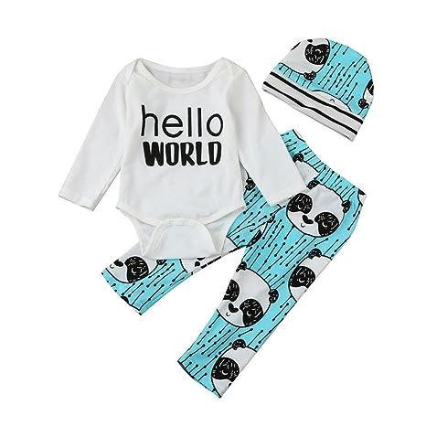 squarex Juego de Ropa y Pantalones con Estampado bebé, niñas y niños