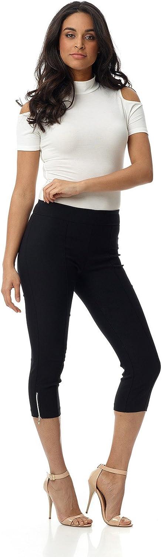 Rekucci Women's Ease into Comfort Slimming Seamed Capri w/Zipper Detail