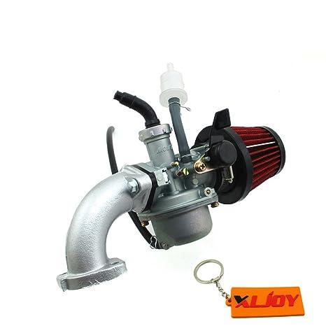 Amazon com: XLJOY PZ22 Carburetor 22mm Carb Intake Pipe Air Filter
