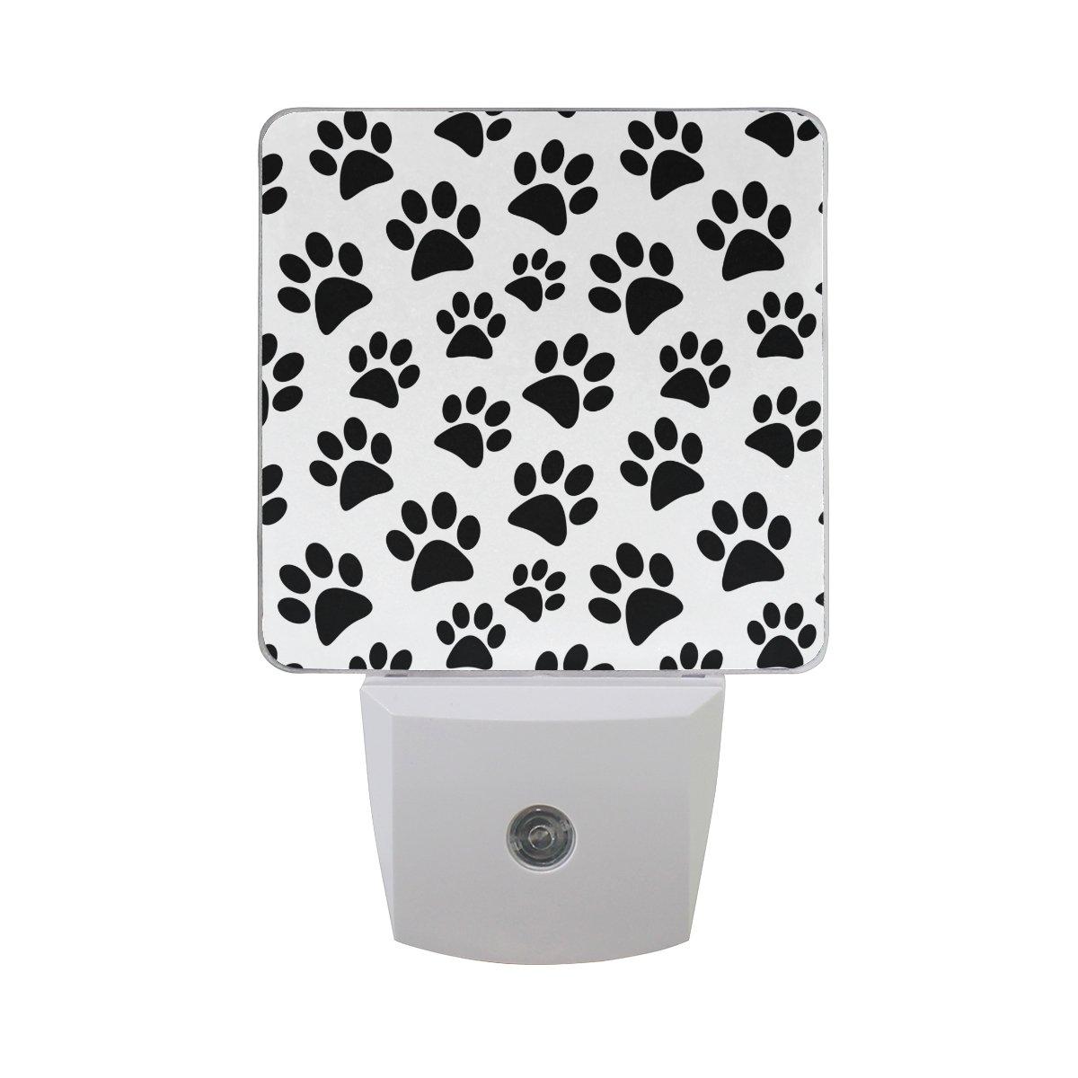 JOYPRINT Led Night Light Animal Dog Cat Paw Print Pattern, Auto Senor Dusk to Dawn Night Light Plug in for Kids Baby Girls Boys Adults Room
