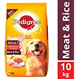 Pedigree Adult Dry Dog Food, Meat and Rice, 10 kg