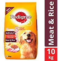 Pedigree Adult Dry Dog Food, Meat & Rice – 10 kg Pack