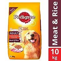 Pedigree Adult Dry Dog Food, Meat & Rice – 10 kg Pack