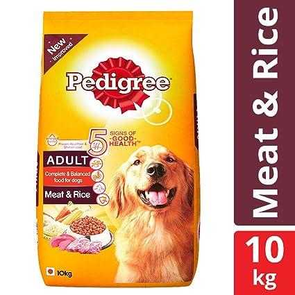Buy Pedigree Adult Dry Dog Food Meat Rice 10 Kg Pack Online At