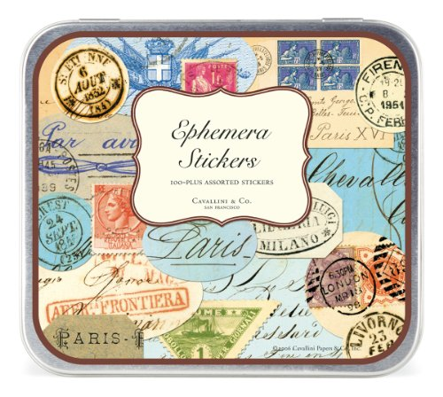 Cavallini Decorative Stickers Ephemera, -