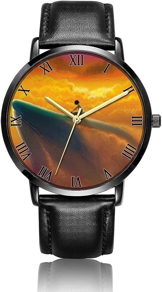 I Infinity Love Wrist Watch, LONHAO Customized PU Leather & Stainless Steel Waterproof Band Wrist Watch for Women Men