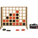 Mega Four In A Row Set - This Giant Outdoor Game features a wonderfully crafted 120cm x 100cm English ash face and mango wood legs and bar guard. The Mega 4 includes 42 plastic coins and a nylon storage bag. Connect 4 in a row to win.
