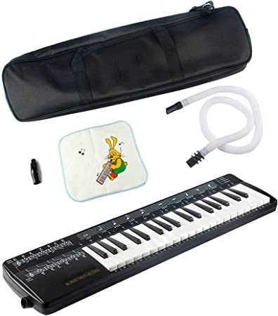 QING.MUSIC Wind instrument Melodica 37-Key Air Piano Keyboard ...
