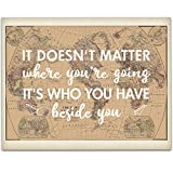 Doesn't Matter Where you're Going Art Print - 11x14 Unframed Art Print - Wedding/Gift Sign/Wood Sign/Reception Sign/Shower Gift/Travel Theme