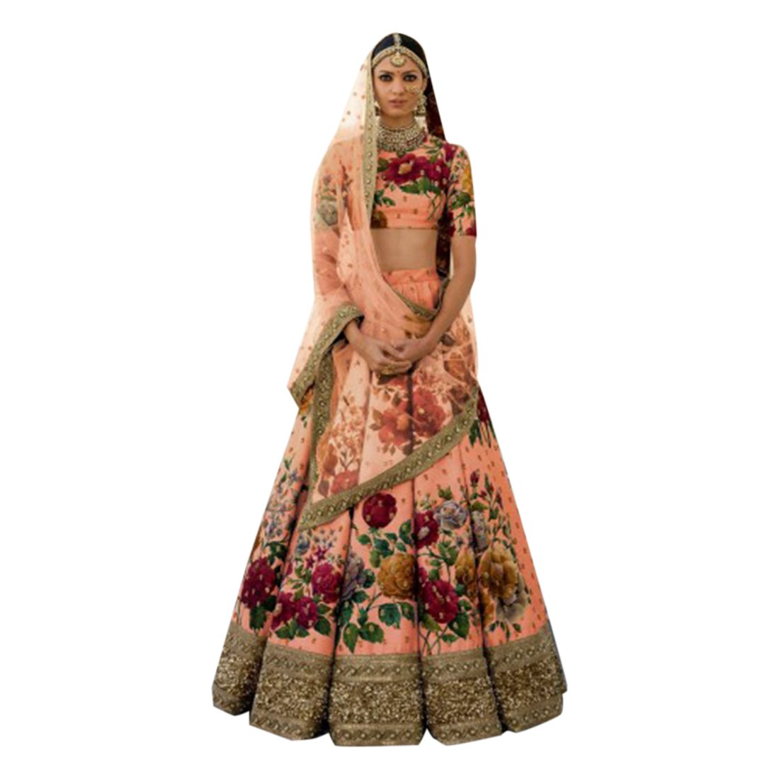 970b216594 Wedding Bollywood Lehenga Dupatta Designer Ghagra chaniya Choli Bridal  Custom to Measure Muslim Eid 2791 at Amazon Women s Clothing store