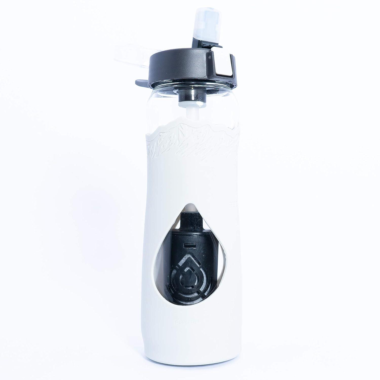 Escape ガラスフィルター付きウォーターボトル 24オンス クールグレー アメリカ製フィルターはフッ化物、鉛、PFOA、PFOS、Chromium 6、VOC、Giardia、Cryptosporidium & 99.99% の水道水汚染物質を除去 BPAフリー B07H58DRV2