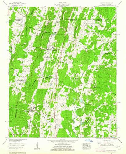 YellowMaps Cohutta GA topo map, 1:24000 Scale, 7.5 X 7.5 Minute, Historical, 1960, Updated 1962, 26.8 x 22 in - Paper (Cohutta Ga)