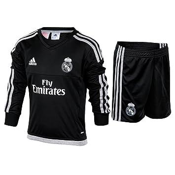Adidas Real Madrid Home Goalkeeper Conjunto, niño, Negro/Gris, 92: Amazon.es: Deportes y aire libre