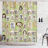 Ambesonne Cat Lover Decor Collection, Framed...