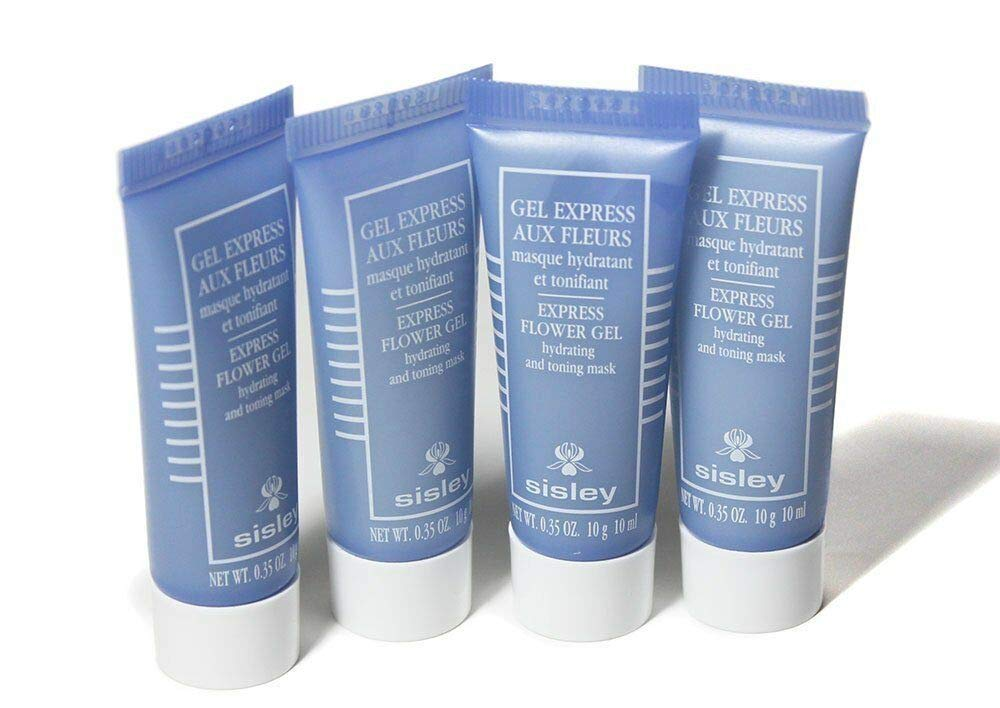 Traveler Set Sisley Express Flower Gel Mask (4Pack @ 10ml) with Pouch