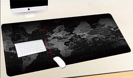 Cimi tapis de souris world map gaming plan de monde noir technique