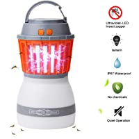 [Upgraded] Mosquito Lamp - AVJONE 4 Light Modes, Quiet Bug Zapper,Portable IPX67 Waterproof Mosquito Zapper Outdoor LED Lantern Rechargeable Mosquito Light with USB Cable