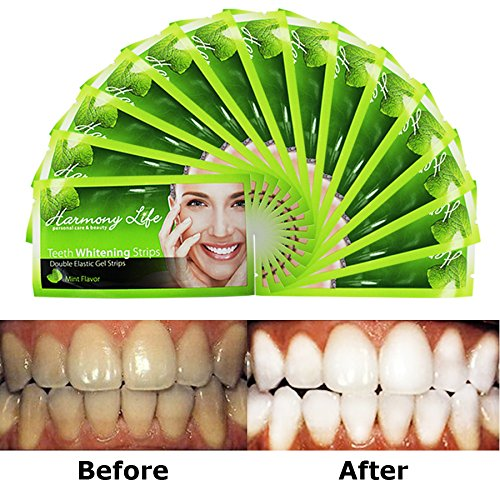Upgraded Teeth Whitening Strips HP Professional Strength, Advanced Double Elastic Gel Strips, Custom Teeth...