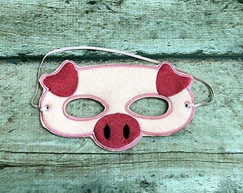 Felt Pig Mask (Handmade Pig Mask)