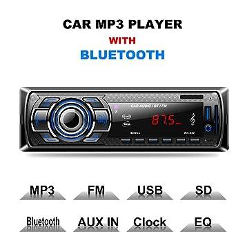 Car Bluetooth MP3 Player Car Radio Plug-in Card Car: Amazon.co.uk ...