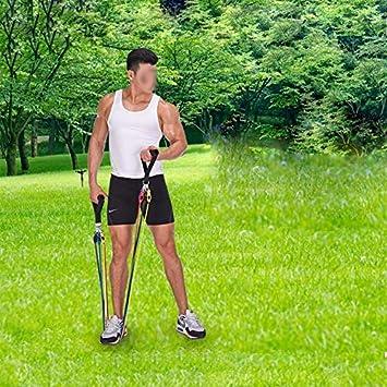 Milopon Fitness Bande de R/ésistance Set Ancre de Porte /& Sangles Pied pour Fitness Pilates Yoga Gym Entra/înement Bandes de Fitness Elastiques Kit avec Poign/ées