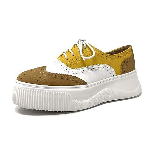 Angkorly Damen Schuhe Sneaker Derby Schuh Sneaker Sohle