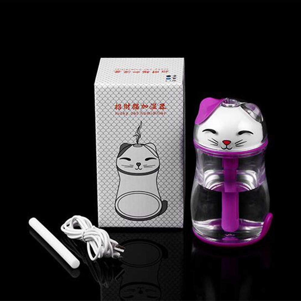 QSAC 180Ml Humidifier Crystal Led Colorful Night Light USB Silent Purification Home Office Atomizer Aroma Diffuser Atomizer Fog- Purple by QSAC (Image #7)