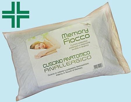 Cuscini Antiallergici.Cuscino Guanciale In Memory Foam Gme Fiocco Anatomico