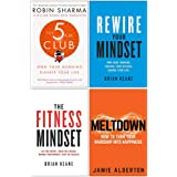 The 5 AM Club, Rewire Your Mindset, The Fitness Mindset, Meltdown 4 Books Collection Set