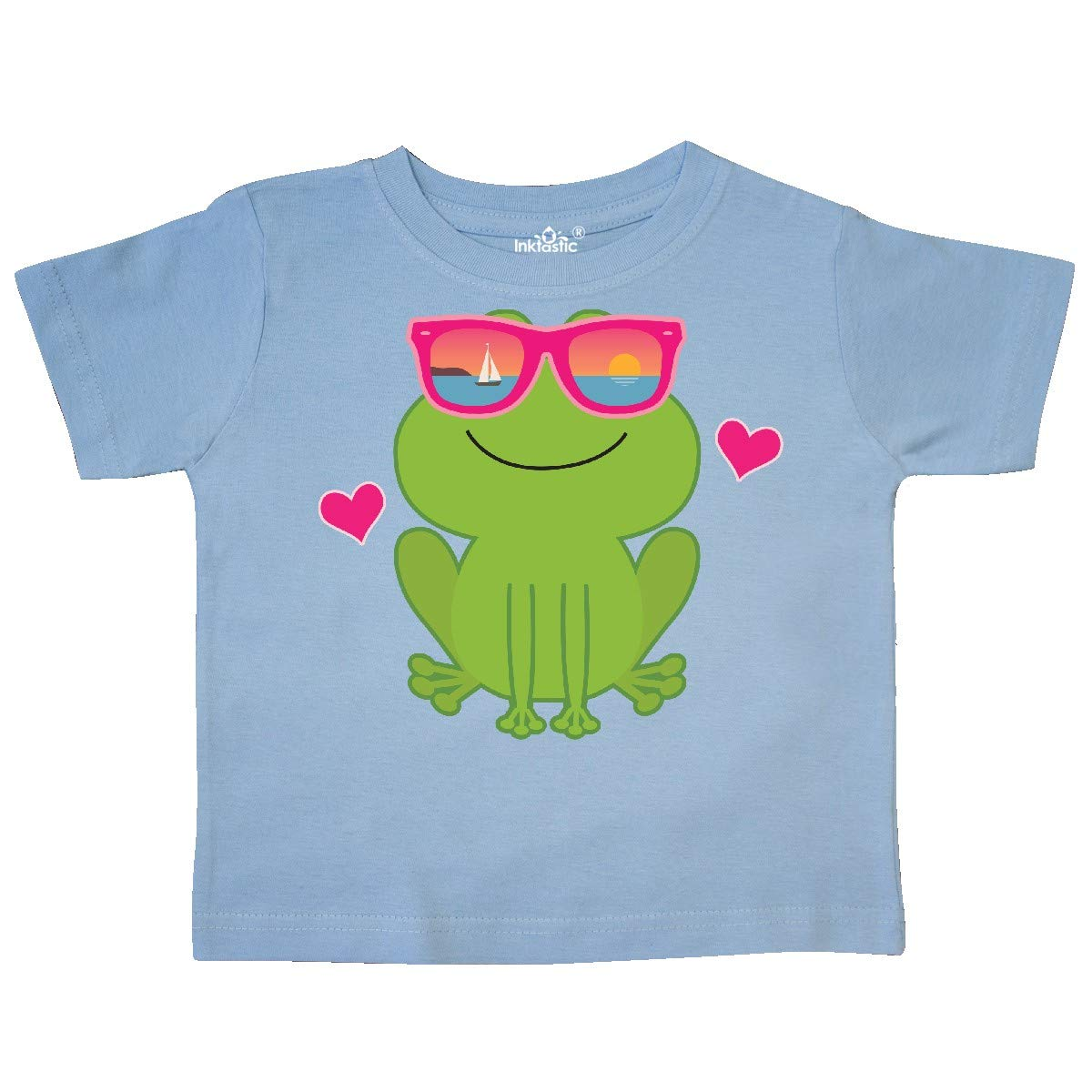 inktastic Summer Frog Beach Vacation Sunglasses Toddler T-Shirt