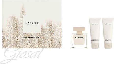 Estuche Narciso Rodriguez para mujer con perfume EDP 50 ml + S/G 75 ml + B/L 75 ml Giosal: Amazon.es: Belleza